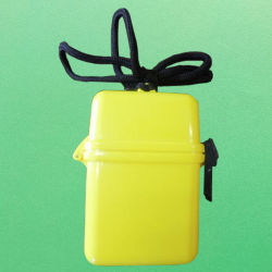 Водонепроницаемый памяти различных форматов случае ID имя карты Holder-Yellow логотипа