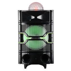 sistema di altoparlante bidirezionale alimentato discoteca di PA 100watt con i lettori di USB/SD, radio di FM