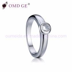 王冠の設定の石が付いている素晴らしい女性純銀製のリング