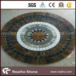 Mattonelle di mosaico dell'ardesia della natura di colori di prezzi di fabbrica multi da vendere