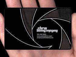 Biglietto da visita di alluminio su ordinazione del metallo del nero dell'acciaio inossidabile con il bordo rotondo
