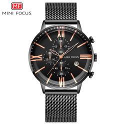 Mini Focus hommes montre-bracelet de quartz avec cadran noir
