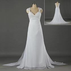 De in het groot Kleding van het Huwelijk van de Chiffon van de Toga van het Strand van de Koker van GLB Bruids voor Bruid W060