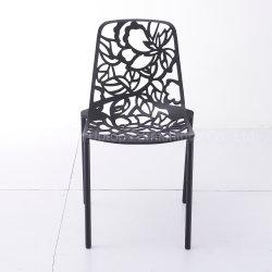 De binnen en Openlucht Stapelbare Stoel van het Aluminium van het Metaal Dinning van de Stijl van het meubilair Moderne Industriële Stoelen Gegoten
