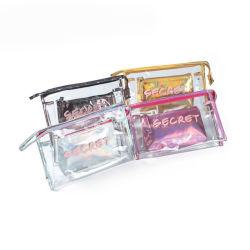 2 Maquillaje femenino Pcsset bolsas impermeables de la bolsa de cosméticos portátil de diseño de Carta de las mujeres conforman la bolsa de regalo bolsa de aseo transparente Fot mamá