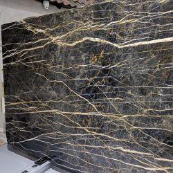 カウンタートップ用の黒い大理石の石 / ワークベンチ / 化粧台 / テーブルトップ / 暖炉 / 床張り / 床タイル / 背景壁パネル / タイル