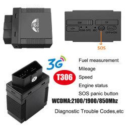 indicatore di posizione del veicolo di Obdii dell'inseguitore di GPS del veicolo dell'automobile 3G con la misura T306 del combustibile