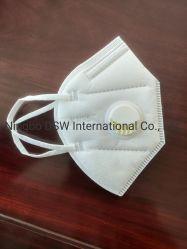 Mascherina Kn95 tessuto del Non-Woven di 5 standard di strato