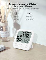 Pantalla LCD reloj electrónico Digital Reloj Despertador con tabla de temperatura y humedad del reloj de viaje