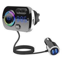 Transmetteur FM kit voiture lecteur MP3 Téléphone mains libres aux deux ports USB du récepteur de charge rapide Kit de voiture