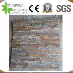 الصين الطبيعية العتيقة الطينيرخون بني كوارتزيت جدار حجري زخرفي