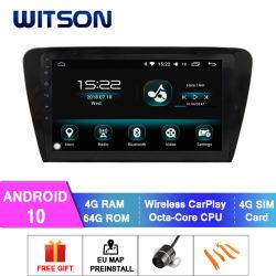 GPS van 10 Auto van Witson Androïde Auto Radio voor Grote Scherm van de Flits van de RAM van Skoda 2015 het Buitengewone 4GB 64GB in de Speler van de Auto DVD