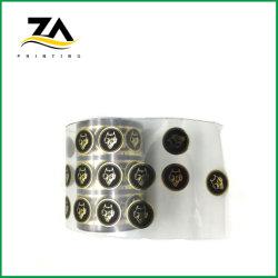 高品質は機械のための黒い包装のステッカーの金熱いホイルのペーパーラベルをカスタム設計する