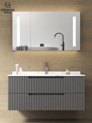 Cina fornitore top qualità piccolo bagno inchiostro grigio vanity unità