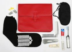 Heißer Verkauf personifizierte kundenspezifische Luftfahrt-Arbeitsweg-gesetzter kosmetischer Beutel-gesetzte Dame-Damen, Form-, diegeschenk Beutel-Handtaschen-Annehmlichkeits-Installationssatz bilden