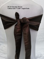 Schokolade Brwon Taft-Stuhl-Schärpen, die Bankett-Hotel-Hochzeits-Dekoration Wedding sind