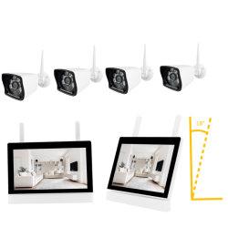WiFi 7のインチLCDのタッチ画面4CH NVRの機密保護のWiFiのカメラキット