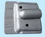 Placa de cierre de metal estampado personalizado y deflector, la placa de metal personalizados Beanie