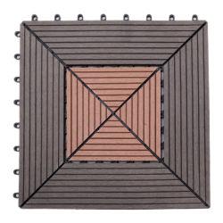 WPC Nuevo Co-Extrudsion interbloqueo sólido Baldosa compuesto de plástico madera techado piscina cubiertas compuestas de bricolaje WPC Baldosas