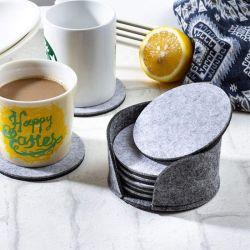 Best verkopende populaire Custom Felt Mat Print Coasters for Cup Glazen koffietafel