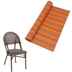 Faixa Pritning fio colorido de malha de tecido revestido de PVC em stock para mobiliário de exterior