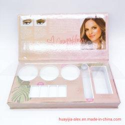 Carton carte Silver magnétique cosmétiques boîte cadeau avec boîte de paquet de papier intérieur en plastique