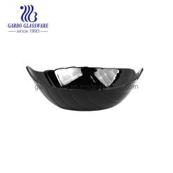 葉形のマイクロウェーブ安全な黒いオパール製品のガラス・ボール8.35inch