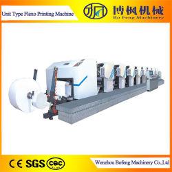 高速 6 カラーユニットタイプ Kraft Paper フレキソ印刷 マシン