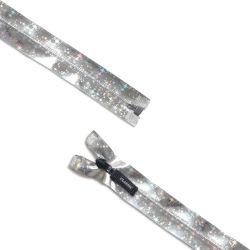 Wasserdichte Silber-Nylonfarbe des Rei?verschluss-#7 mit Stern-Entwurfs-ge?ffnetem Ende