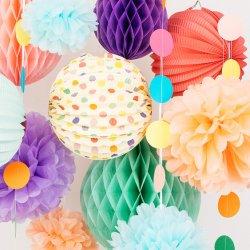 Папа комплект Premium декоративной бумаги - Pompon, Honeycomb и аккордеон фонарем (Праздник цветов) День рождения малыша ванной невест идеально подходят для проведения свадебных мероприятий