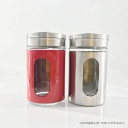 La especia pimienta 100 ml frasco de vidrio El vidrio Salero
