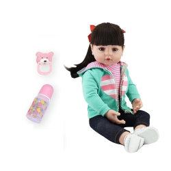 بيبس ولدت دوليل 47 سم فتاة من نوع سيلسيكون دوليل ولدت من جديد دوليل الطفل لعبة تشبه الواقع في الواقع الأميرة فيكتوريا بونيكاس مينينا لحديثي الولادة للأطفال