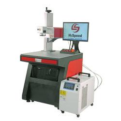 Высокое качество Hispeed популярные пластиковые 5W УФ лазерные системы маркировки