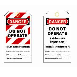 カスタマイズされるPVCプラスチックはTagoutに警告する安全ロックアウト札を作動させない