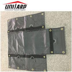 Anel D Tecidos têxteis 1000d*1000d 18oz PVC lona revestida a máquina &Reboque abrange Lumber Tarps de Aço