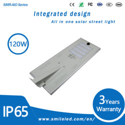 À prova de IP65 Todos em um LED piscina 60W 80W 100W 120W Luz Rua solar integrada com o sensor de movimentos