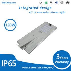 Esterno tutti in un indicatore luminoso di via solare Integrated solare della lampada 80W 100W 120W LED