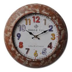 Madeira e Metal relógio de parede e antigo relógio decorativas
