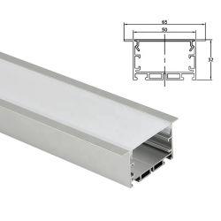 Commerce de gros clips à ressort de canal de lumière LED LED pour montage encastré Profil en aluminium