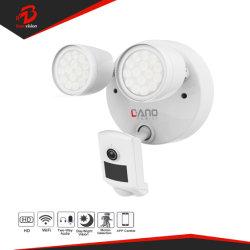Videocamera di sicurezza 1080P WiFi del CCTV della macchina fotografica del proiettore con Movimento-Rilevazione di Audio/IP65 Waterproof/PIR/spinta del telefono e l'allarme della sirena/la visione notturna bidirezionali (bianca)