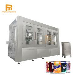 Proyecto llave en mano lata de aluminio de los Refrescos carbonatados /cerveza/zumo caliente/ té/café/agua líquida de la botella de bebida de llenado de la línea de envasado de conservas de sellado de la máquina