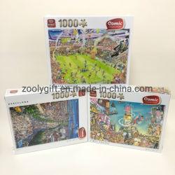 Os fabricantes de brinquedos Puzzle Educativos Custom 1000 Pedaço quebra-cabeças Customized 1000 Unidades de Coleta de Cartolina Puzzle para crianças de adulto