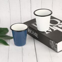All-Over Entwurf angestrichenes Felgen-Schwarz-Farben-breiter Mund-Kaffee-Decklack-Becher-trinkendes Cup mit Abziehbild kein Griff