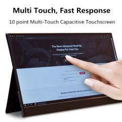 Video portatile ultra sottile dello schermo di tocco di 15.6 pollici per il PC, computer portatile, sezioni comandi del gioco con tipo C