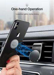360 Vorm van L van de Tribune van de Telefoon van het Type van Klem van de Houder van de Autotelefoon van de Omwenteling van de graad de Magnetische Mobiele met 640g de Grote Capaciteit van de Lading