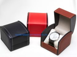 Caja de regalo de cuero El cuero Ver Caja de regalo de la tapa y fondo tipo almohada de embalaje con espuma interior Caja de almacenamiento de buena calidad OEM PRECIO Zhuhai Imprimir