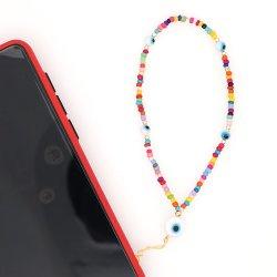 Mlgm تركيا الشر عين الهاتف المحمول سلسلة مخصص قبول جيد مجوهرات عالية الجودة من قبل رينبو لحلقات سلسلة الهواتف للنساء