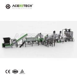 Sacchetti residui del negozio della pellicola del PE di 500 kg/h pp che lavano riciclando macchina con il serbatoio e lo spremitoio di separazione della rondella di attrito del frantoio