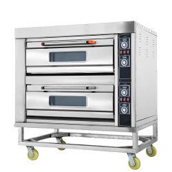 Commercial à 2 couches de l'équipement de boulangerie pâtisserie avec ce four à pizza
