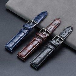 حزام ساعة من الجلد PU حزام من جلد الرطل من نوع Calf Grain Watch للرجال